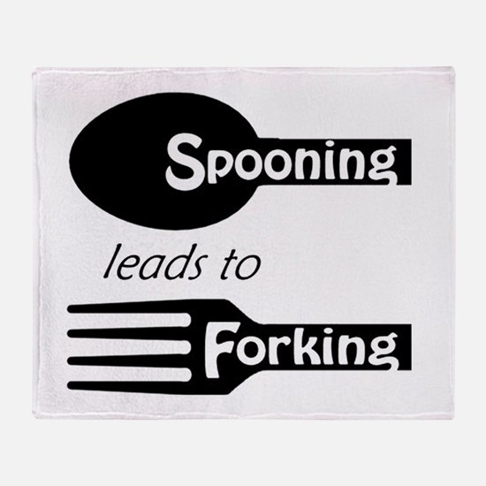 Funny Forks Throw Blanket