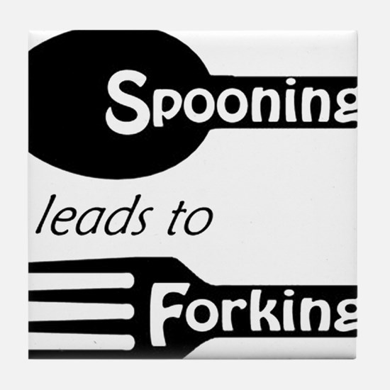 Funny Spoon Tile Coaster