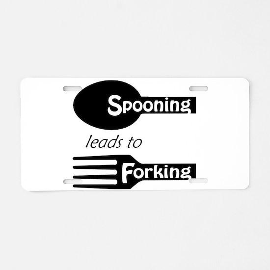 Funny Fork Aluminum License Plate