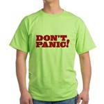 Don't Panic Green T-Shirt