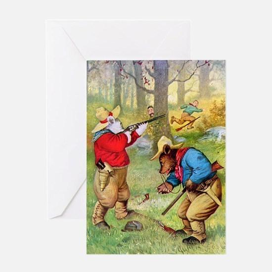 Roosevelt Bears as Cowboy Hunters Greeting Card