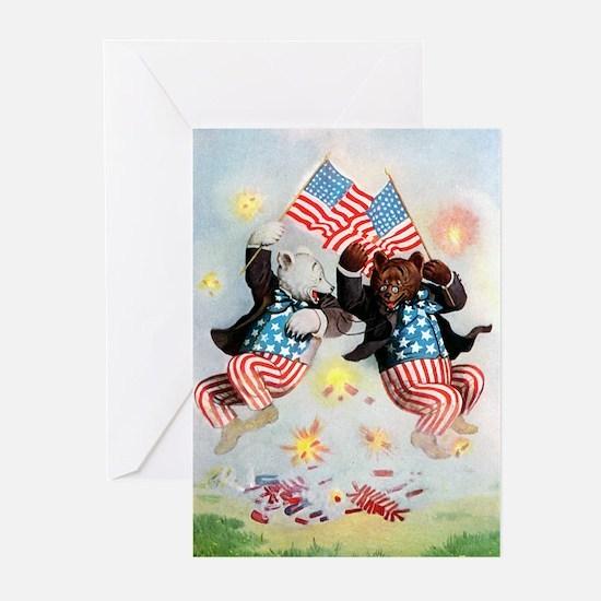 Roosevelt Bears Get Patriotic Greeting Cards (Pk o
