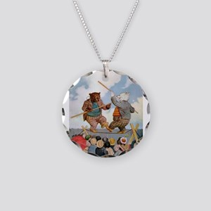 Roosevelt Bears Jousting Necklace Circle Charm