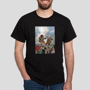 Roosevelt Bears Jousting Dark T-Shirt