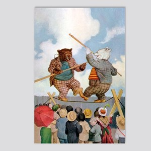 Roosevelt Bears Jousting Postcards (Package of 8)
