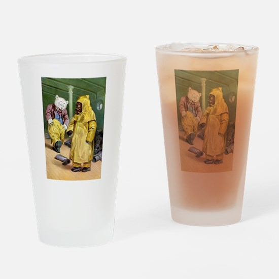Roosevelt Bears at Niagra Falls Drinking Glass