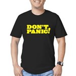 Don't Panic Men's Fitted T-Shirt (dark)