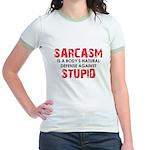 Sarcasm Stupid Jr. Ringer T-Shirt