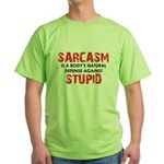 Sarcasm Stupid Green T-Shirt