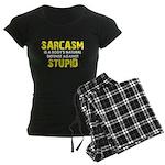 Sarcasm Stupid Women's Dark Pajamas