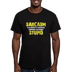 Sarcasm Stupid Men's Fitted T-Shirt (dark)