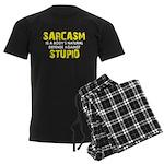 Sarcasm Stupid Men's Dark Pajamas