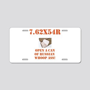 Open a Can! Aluminum License Plate