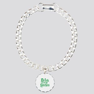 Drink Up Bitches Funny Irish Charm Bracelet, One C