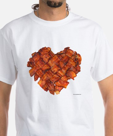Bacon Heart - White T-Shirt
