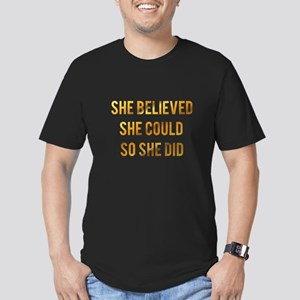 She believed she could so she did gold foi T-Shirt