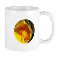 Golden Poppy Flower Mug