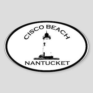 Cisco Beach Oval Design. Sticker (Oval)