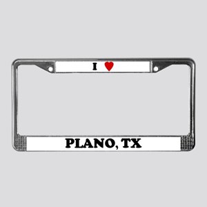 I Love Plano License Plate Frame