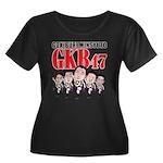 GKB47 Women's Plus Size Scoop Neck Dark T-Shirt