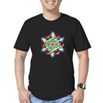 Planetary Snow Star Crop Circ Men's Fitted T-Shirt