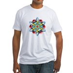 Planetary Snow Star Crop Circ Fitted T-Shirt