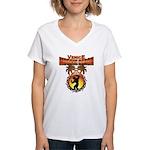 MuscleBeachVenice Tribal Women's V-Neck T-Shirt