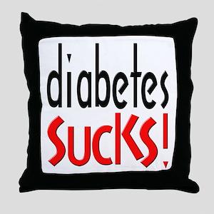Diabetes Sucks Throw Pillow