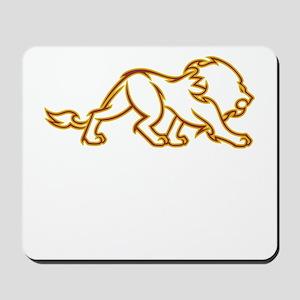 Fire Lion Mousepad