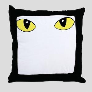 Peering Eyes Throw Pillow