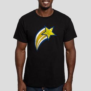 Shooting Star Men's Fitted T-Shirt (dark)