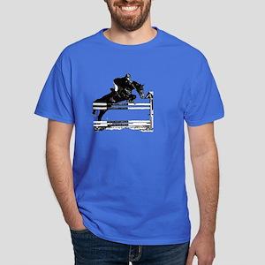 Show Jumper on a dark horse Dark T-Shirt