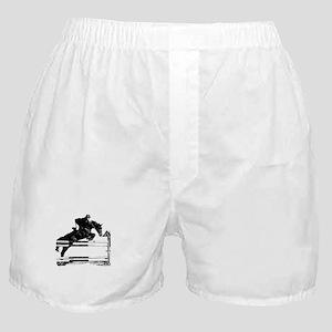 Show Jumper on a dark horse Boxer Shorts