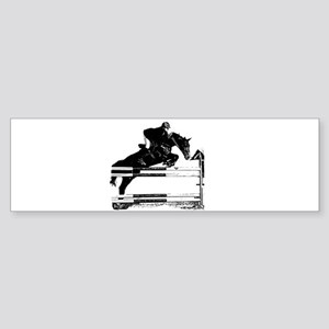 Show Jumper on a dark horse Sticker (Bumper)
