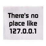 No Place Like 127.0.0.1 Throw Blanket