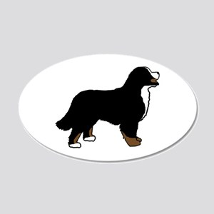 Tri Color Bernese Dog 20x12 Oval Wall Decal