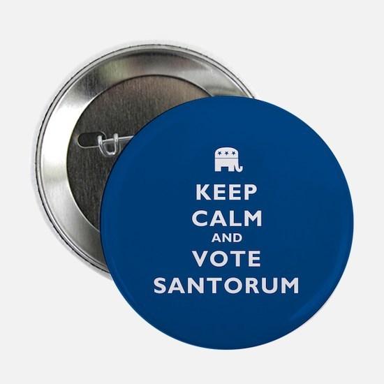 """Keep Calm And Vote Santorum 2.25"""" Button"""