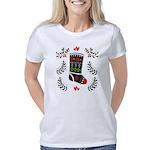 Folk Art Christmas Stockin Women's Classic T-Shirt