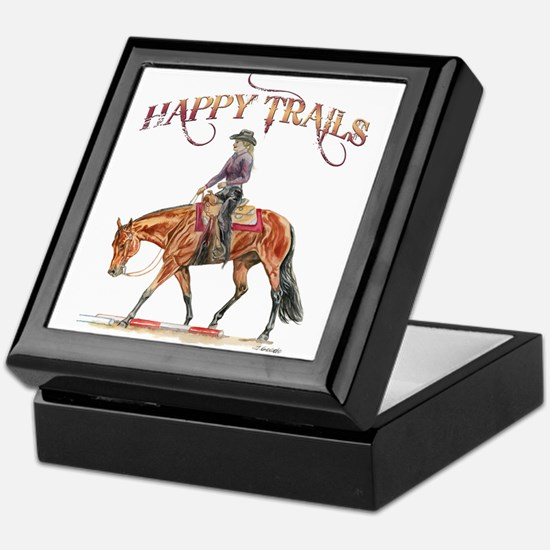 Happy Trails Keepsake Box