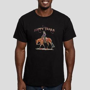 Happy Trails Men's Fitted T-Shirt (dark)