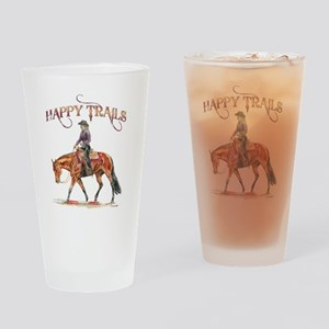 Happy Trails Drinking Glass