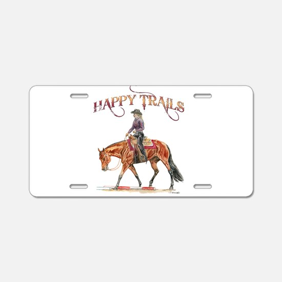 Happy Trails Aluminum License Plate