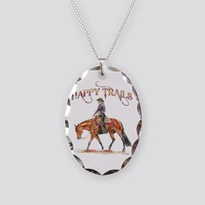 Happy Trails Necklace Oval Charm