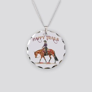 Happy Trails Necklace Circle Charm