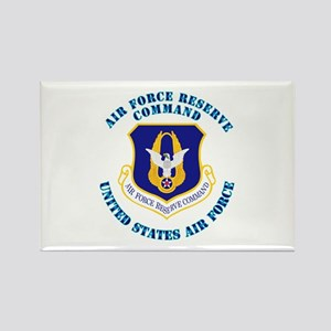 Air Force Reserve Cmd with Text Rectangle Magnet