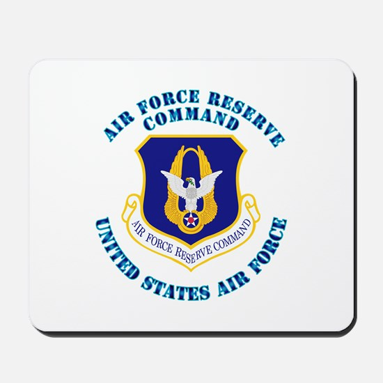 Air Force Reserve Cmd with Text Mousepad