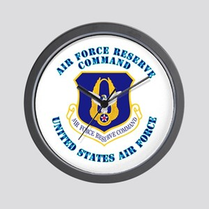 Air Force Reserve Cmd with Text Wall Clock