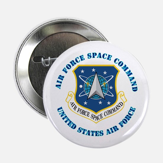 """Air Force Space Cmd with Text 2.25"""" Button"""