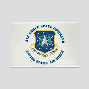 Air Force Space Cmd with Text Rectangle Magnet
