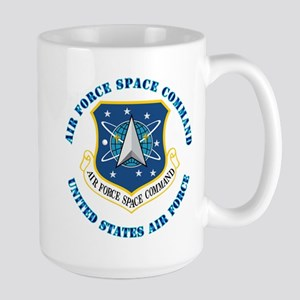 Air Force Space Cmd with Text Large Mug
